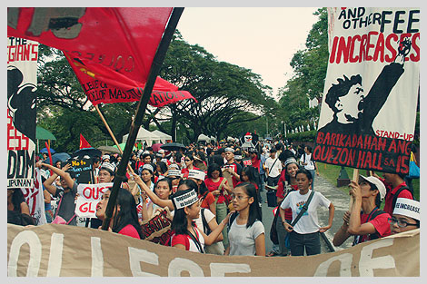 Anti-Tuition Fee Increase protest