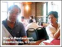 Mama and Papa ordering at Max's along the highway in Dasmarinas, Cavite
