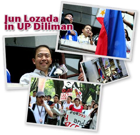 Jun Lozada in UP Diliman