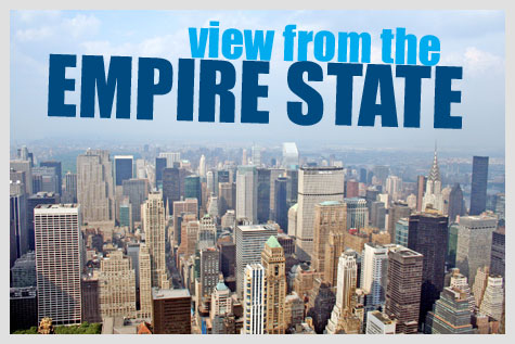 view from atop the Empire State Building