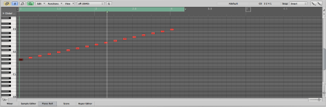 Here we have each note in the scale. You can also make variations like bent notes, echoes and other things. Just make sure each note is separated enough when bouncing.