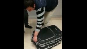 Λαθρομετανάστης σε βαλίτσα