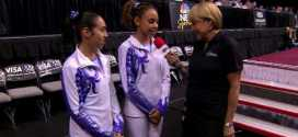 Mattie Larson and Samantha Shapiro Interview 2009 Visa Championships Women Day 1