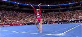 Shawn Johnson Floor Exercise 2008 Olympic Trials Day 1