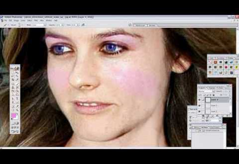 Alicia Silverstone Before After With Photoshop 7 0