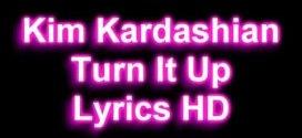 Kim Kardashian Official New Song Jam Turn It up Lyrics On Screen HD
