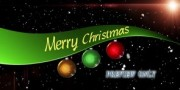 Merry Christmas Title Motion Background Video