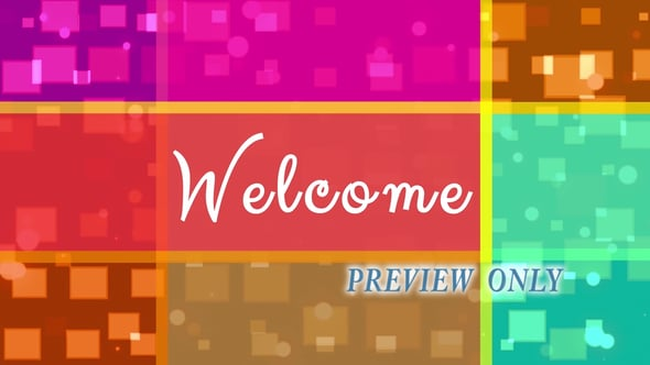 Geometric And Colorful Welcome
