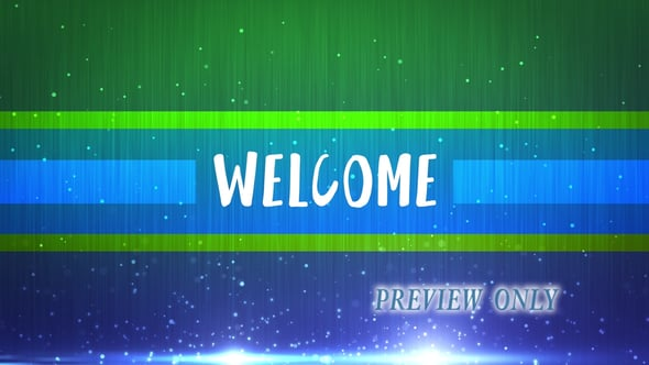 Free Welcome Title Motion Video