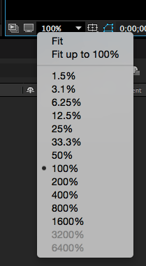 after effects composition size