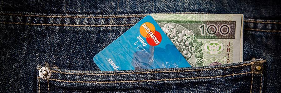 credit card money pocket