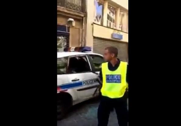 PM-un-interpelle-brise-la-vitre-d-une-voiture-de-police-municipale