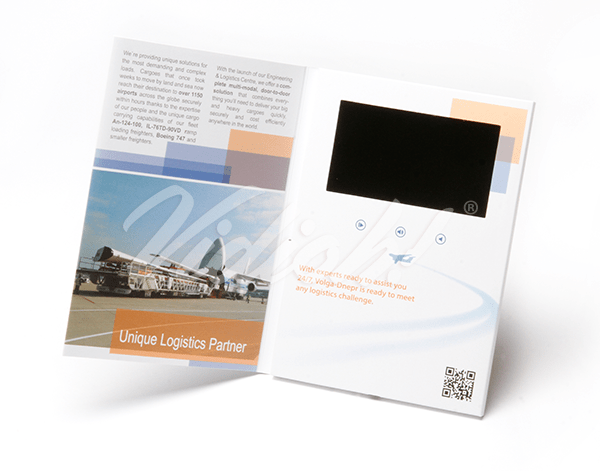 High Quality Video Brochures  Video Brochure Specialists    Vidioh 5 inch Video Brochure