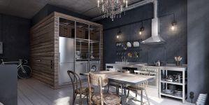 Σκοτεινό και σκυθρωπό διαμέρισμα 40 τετραγωνικών στη Μόσχα