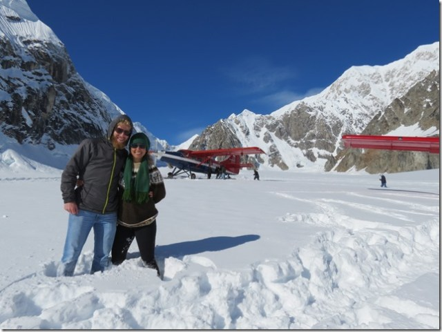 At the Ruth Glacier during our flightseeing tour