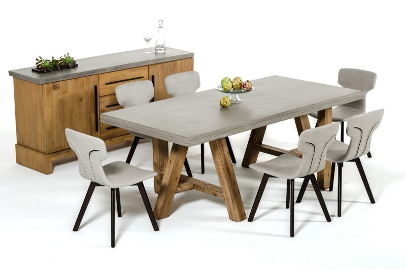 Large Of Concrete Dining Table