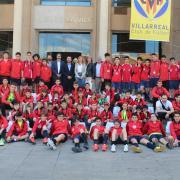 L'Ajuntament rep l'escola Deportiva de Brunete per fomentar la Ciutat del Futbol
