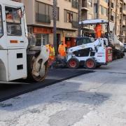 El pla de manteniment de vies urbanes posa a punt els principals encreuaments de l'avinguda Pius XII
