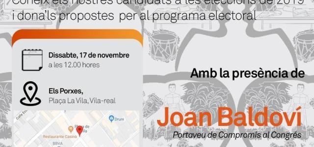 Joan Baldoví i Marta Sorlí visiten Vila-real per a animar a la ciutadania a 'mullar-se'