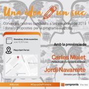 El segon acte de 'Mulla't' de Compromís comptarà amb Carles Mulet i Jordi Navarrete aquest divendres