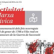 Vila-real celebra una marxa cívica en commemoració dels fets ocorreguts el 12 de gener de 1706