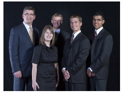 Minister Black with 2010 BC Technology Scholarship Winners