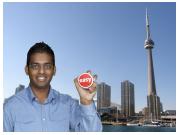Randy with his EasyButton in Toronto