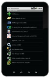 Rove Mobile Admin on Samsung Galaxy Tab