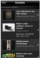 Montreal Museums App