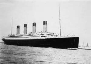 The Titanic at Southampton. Photo Credit: © The National Archives