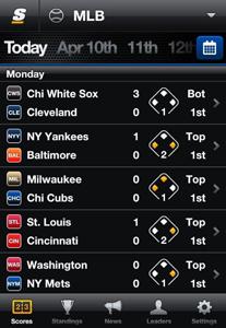 score media MLB