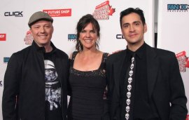Mack Walters, Jennifer Hale and Mark Meer