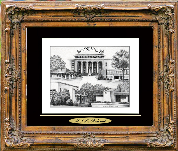 Pencil Drawing of Booneville, MS