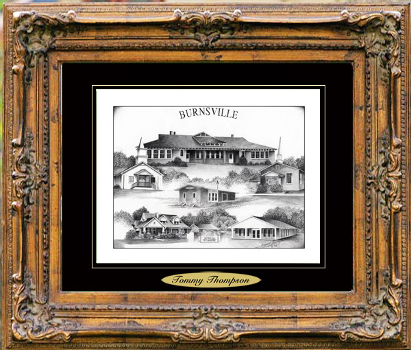 Pencil Drawing of Burnsville, MS