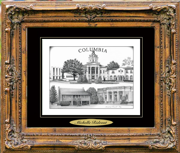 Pencil Drawing of Columbia, MS