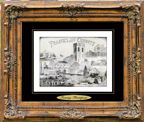 Pencil Drawing of Franklin County, Tn