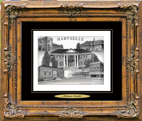 Pencil Drawing of Hartselle, AL
