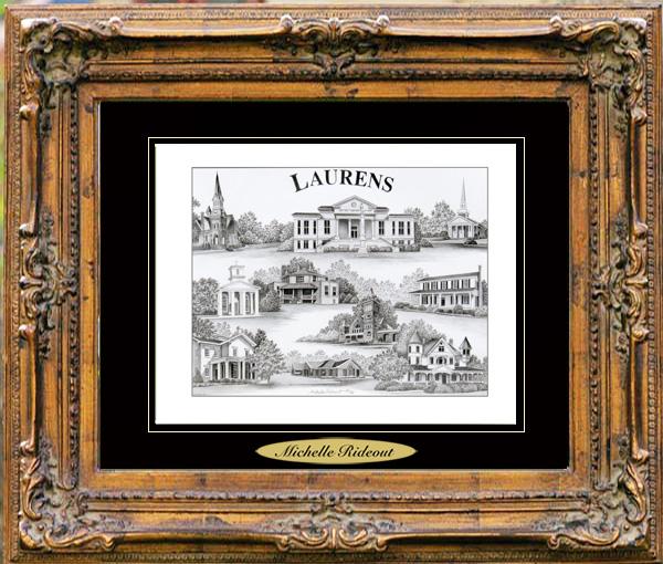 Pencil Drawing of Laurens, SC