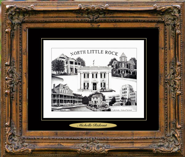 Pencil Drawing of North Little Rock, AR