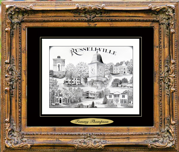 Pencil Drawing of Russellville, KY