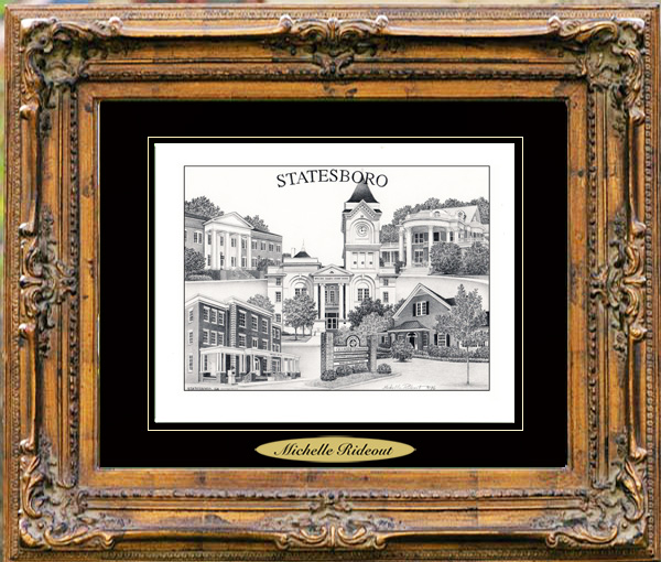 Pencil Drawing of Statesboro, GA