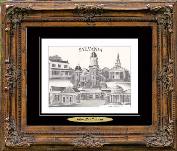 Pencil Drawing of Sylvania, GA