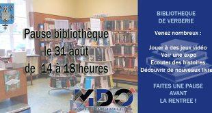 Ça vous tente une petite pause détente à la bibliothèque le 31 août ?