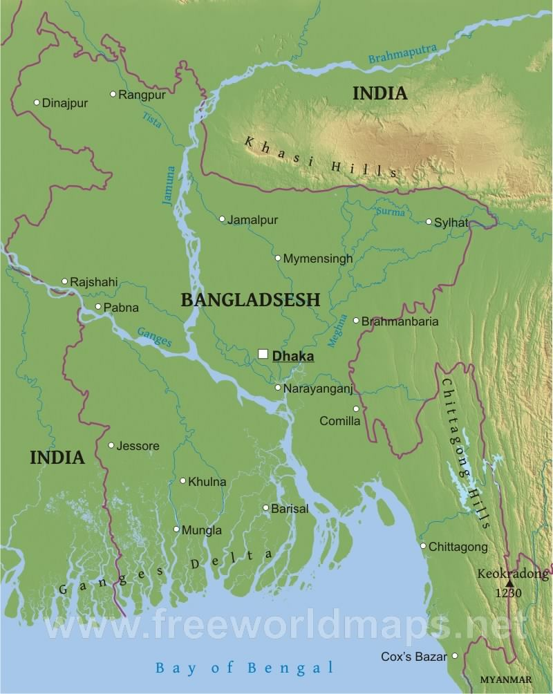 map of bangladesh with rivers     ladesh map physical