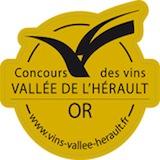 Medaille vins vallee herault or
