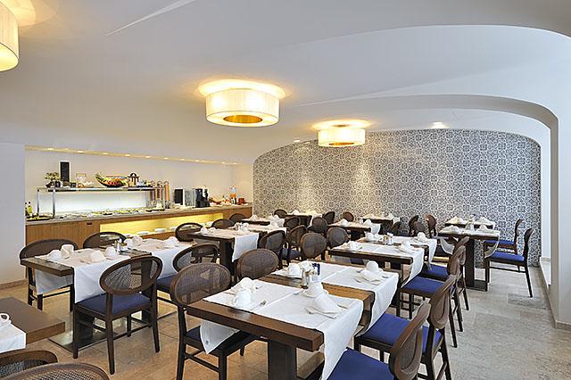 The restaurant Tapas&Friends at the hotel Vincci Baixa 4* Lisbon, Portugal.