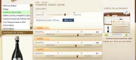 THARSYS UNICO 2008 - 90.31 PUNTOS EN WWW.ECATAS.COM POR JOAQUIN PARA WINE UP