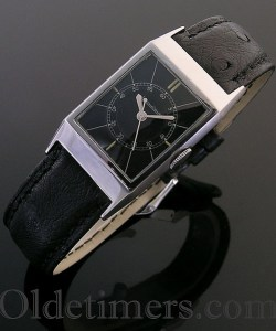 1930s steel vintage Jaeger LeCoultre watch (3818)
