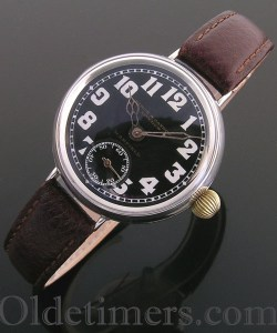 1917 silver round vintage Birch & Gaydon watch
