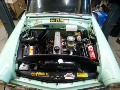 We are looking forward to the day when we can close the engine bay off by fitting the bonnet.